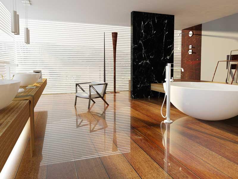 Duschvorhang freistehende dusche raum und m beldesign for Badezimmer trends 2015