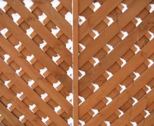 Holzzaun als Sichtschutz