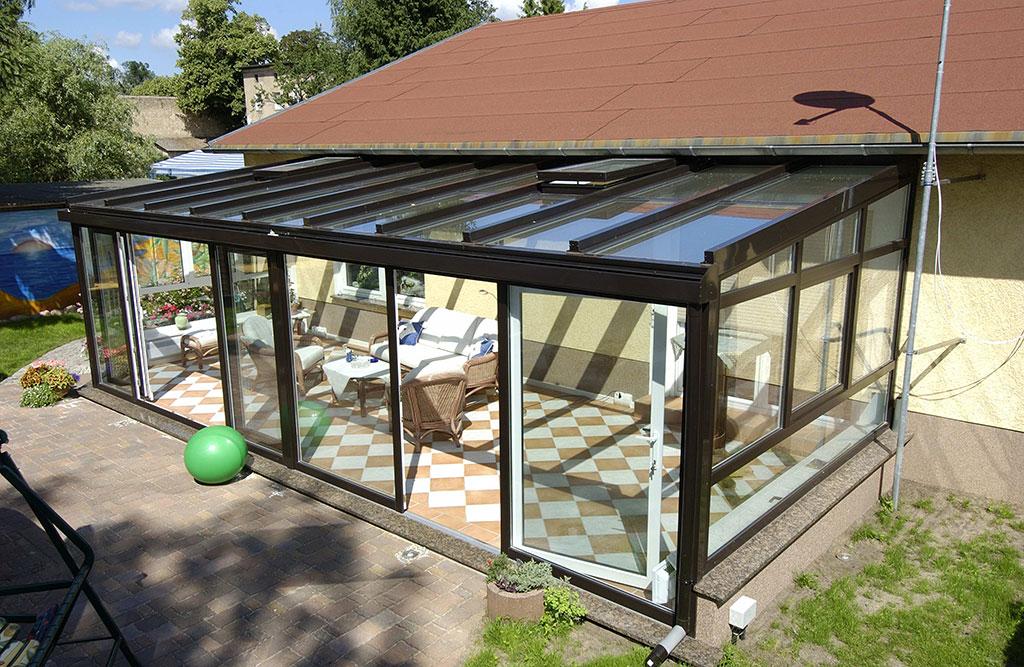 Ein Dach für den Wintergarten planen